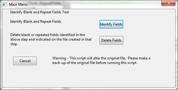 Identify Blank / Repeat Fields | IDEAScripting and More