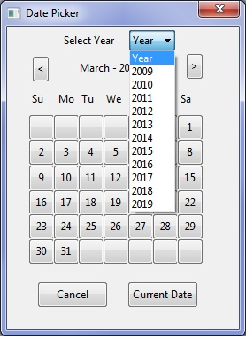 Date Picker with year